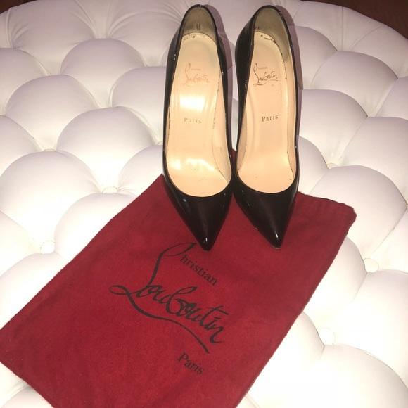 b9f37dbe5862 Christian Louboutin Shoes - Christian Louboutin black patent leather  stilettos